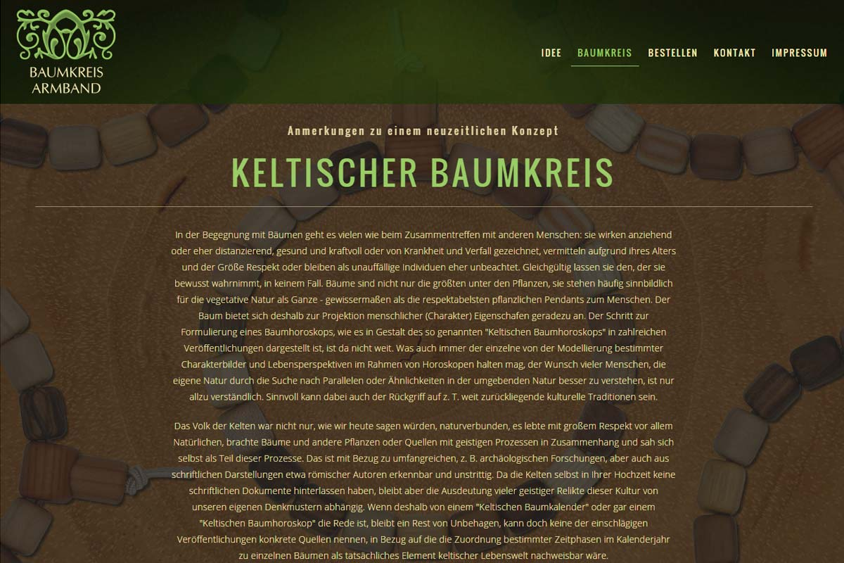 Screenshot der Website baumkreis.com