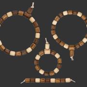 Vater, Mutter & Kinder-Armband-Set Walnussbaum-Haselstrauch-Esskastanie, aus: Neue Vater, Mutter & Kind-Armband-Sets
