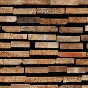 Nahaufnahme der Schnittkanten eines Bauholz-Lattenstapels I, aus: Abstrakt natürliche Struktur