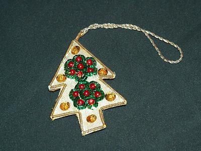 Pailetten-Weihnachtsbaum-Anhänger