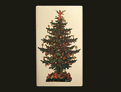 Weihnachtsbaum-Streichholzschachtel