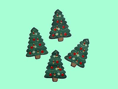 Weihnachtsbaum-Tischdekoration