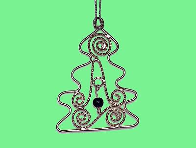 Silberdraht-Weihnachtsbaum-Anhänger aus Indien