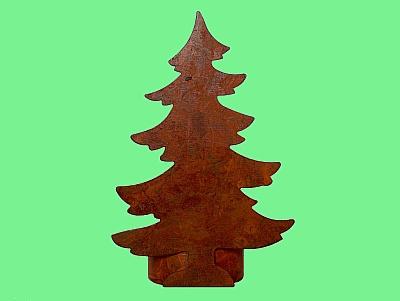 Weihnachtsbaum-Windlicht aus Blech