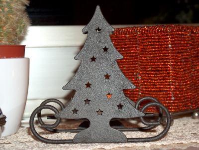Weihnachtsbaum-Windlicht