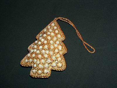 Perlen-Weihnachtsbaum-Anhänger