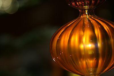 weihnachtlicher Glasschmuck