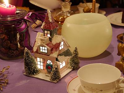 Weihnachtliche Tischdekoration
