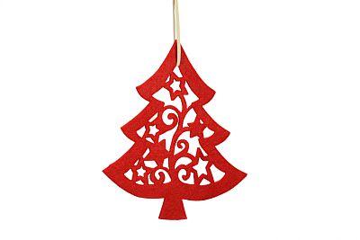 Filz-Weihnachtsbaum-Anhänger