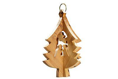 Weihnachtsbaumdekoration in Form einer Krippenszene