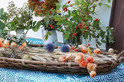 Kräutergebinde und Trockenpflanzendekoration zu Mariä Himmelfahrt 2009