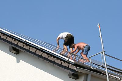 Installation Fotovoltaikanlage