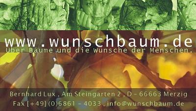 Wunschbaum-Visitenkarte