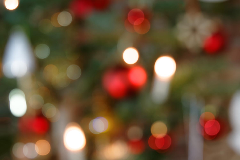 Weihnachtsbaumdekoration - Bokeh Hintergrund II