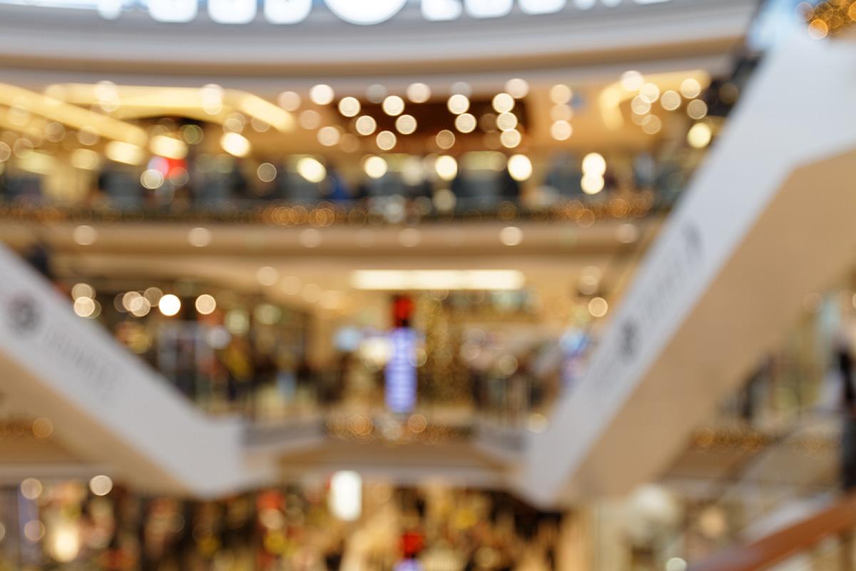 Weihnachtsatmosphäre im Einkaufszentrum II