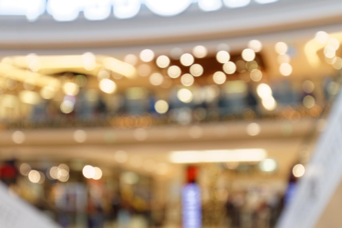 Weihnachtsatmosphäre im Einkaufszentrum III