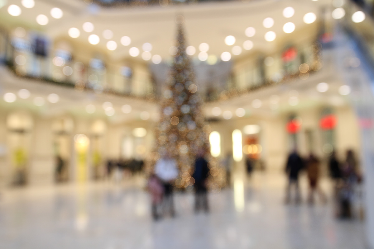 Einkaufen in der Weihnachtszeit
