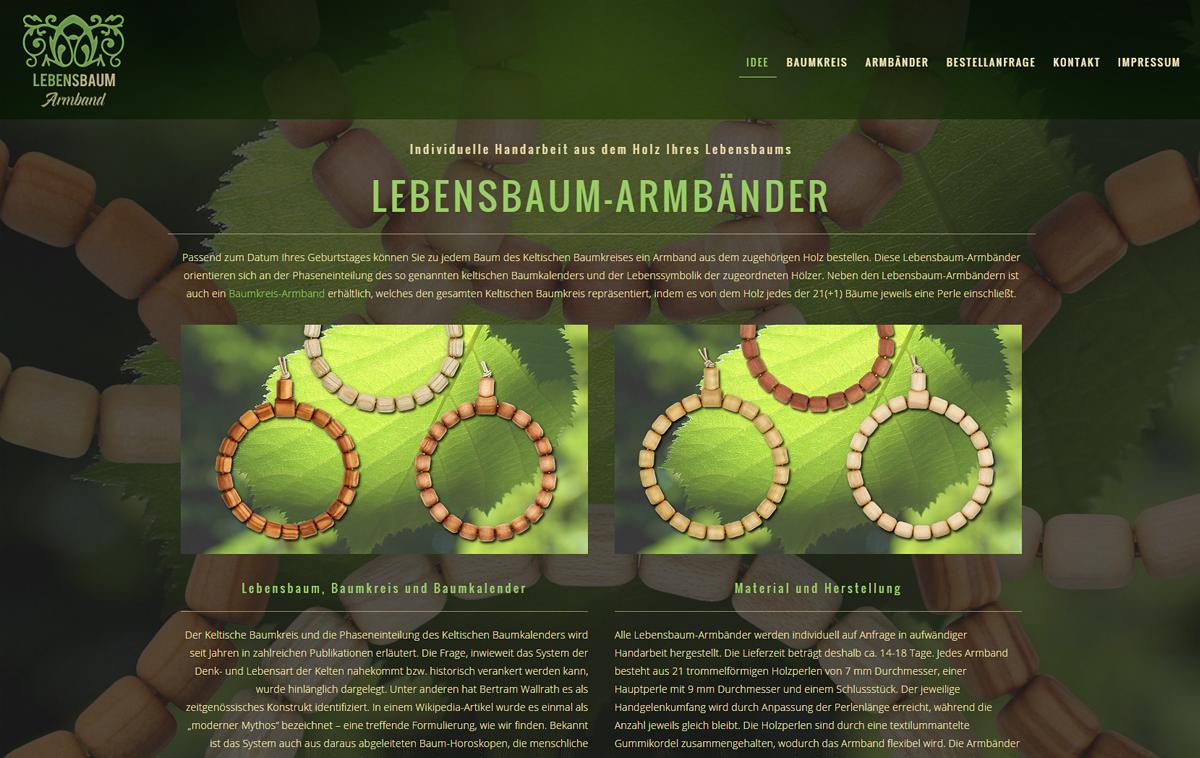 Screenshot von lebensbaum-armband.de