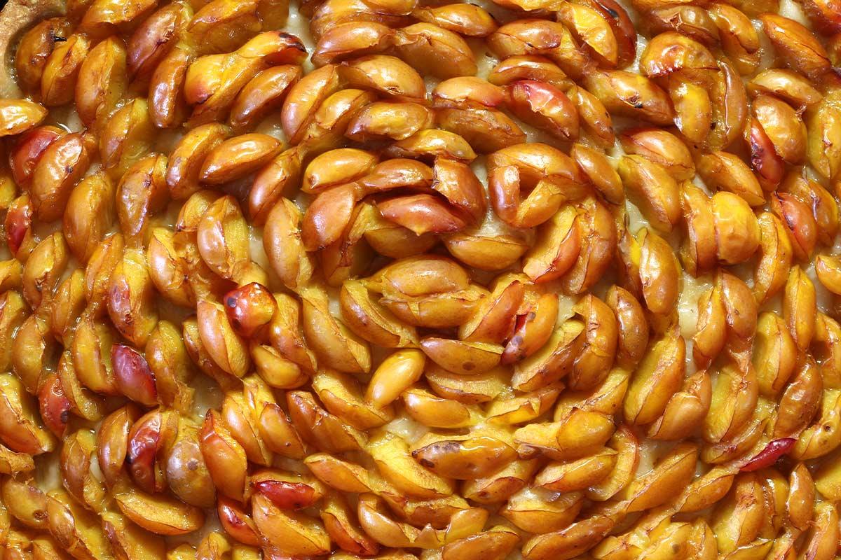 Mirabellen - Kuchen, Detail